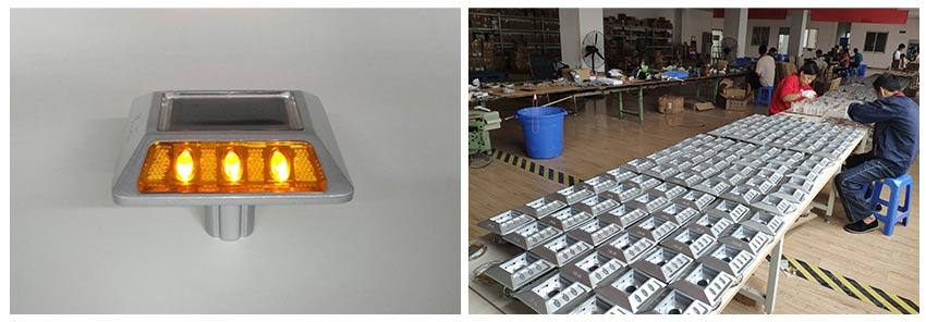 Aluminum Raised Solar Road Stud Road Marker Flash Type