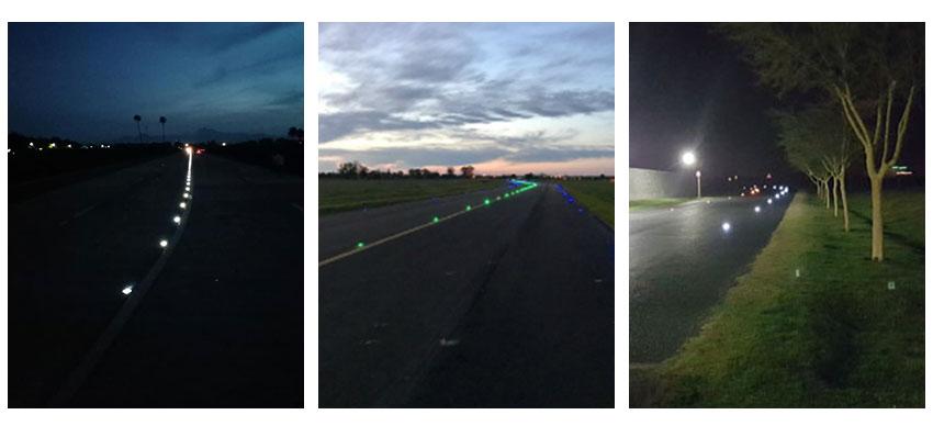 Solar Road Marker Light application