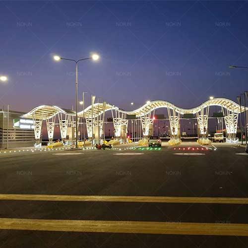Synchronous Flash Solar Road Stud Lighs Were In Saudi Arabia Motorway