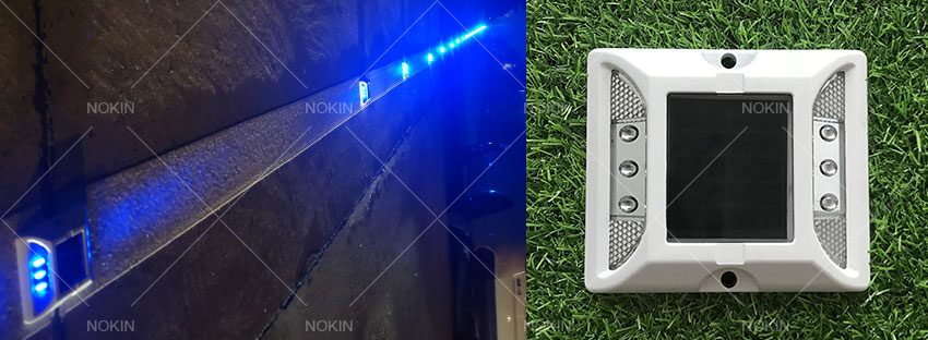 Blue Solar Powered Road Stud in Colombia-1
