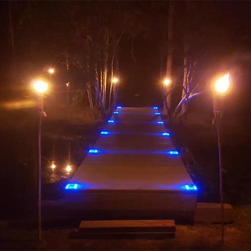 Colorful Solar Road Stud Light In US Small Bridge